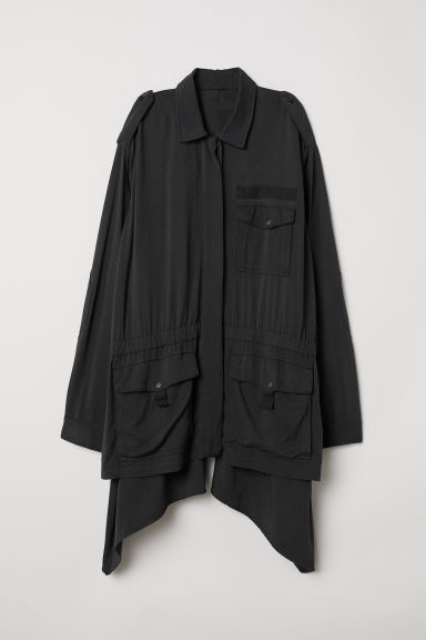 Wide twill jacket - Black - Ladies | H&M