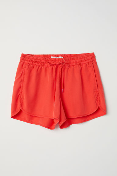 Lyocell shorts - Orange - Ladies | H&M