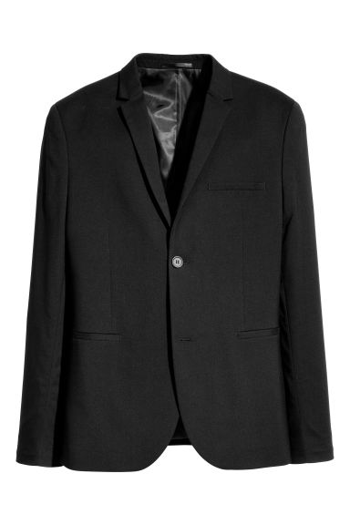 Jacket Super skinny fit - Black - Men | H&M CN