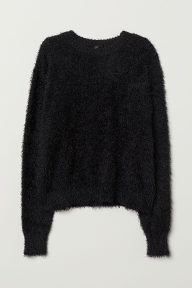 Fluffy jumper - Black - Ladies | H&M CN