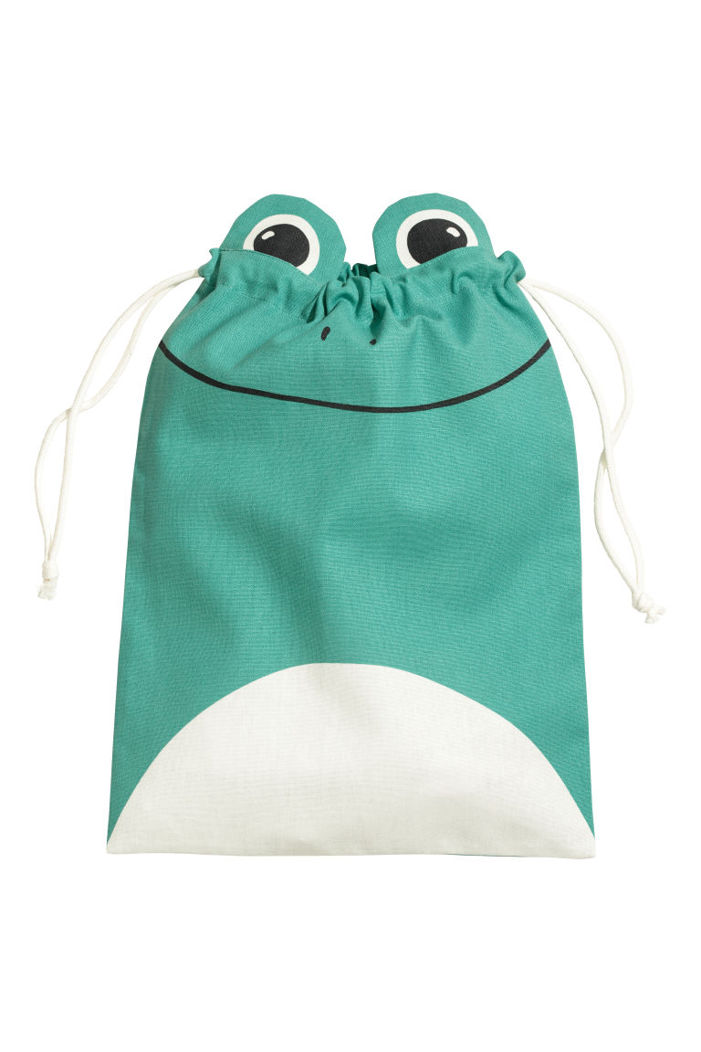 Drawstring storage bag - Green/frog - Home All | H&M CA