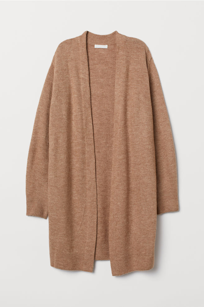 1afec9267f ... Long Cardigan - Dark beige melange - Ladies