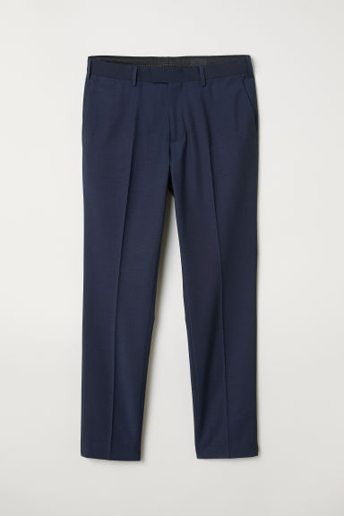 Suit trousers Skinny fit - Dark blue - Men | H&M CN