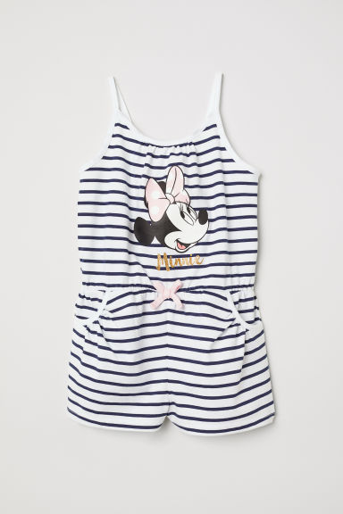 Sleeveless playsuit - White/Minnie Mouse - Kids | H&M CN