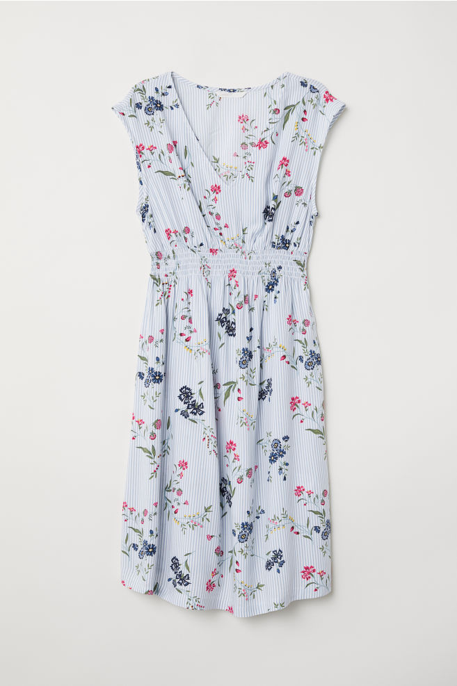 87cfcb101cfaea MAMA Sleeveless dress - Light blue Floral - Ladies