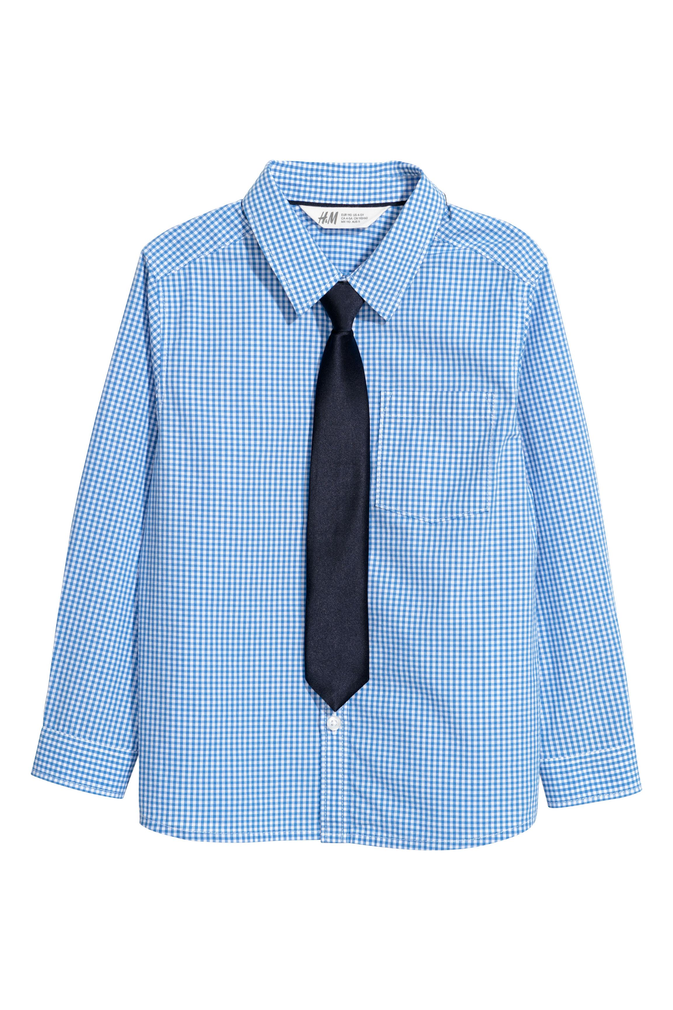 ba28478644 Ing nyakkendővel - Kék kockás/nyakkendő - GYEREK   H&M HU