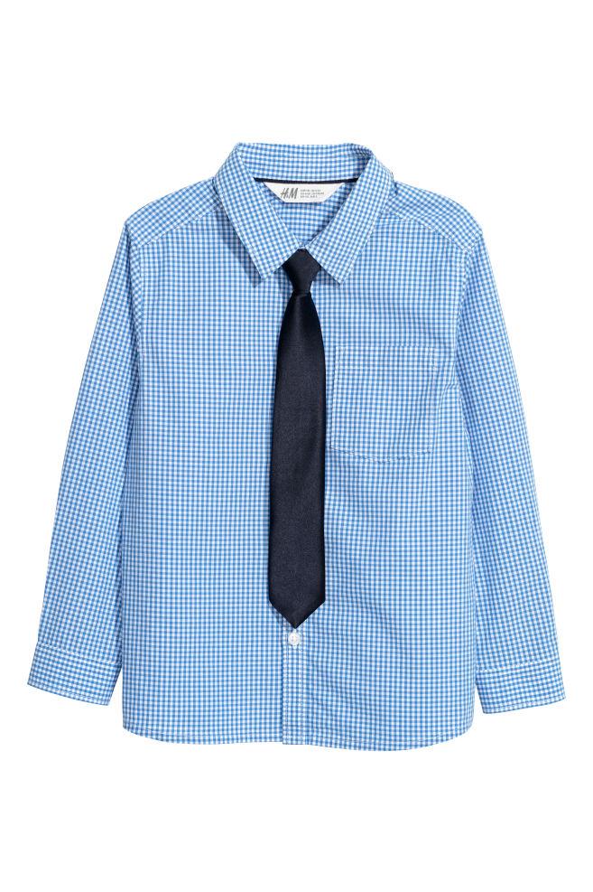 4cc8fac992 Ing nyakkendővel - Kék kockás/nyakkendő - GYEREK | H&M ...