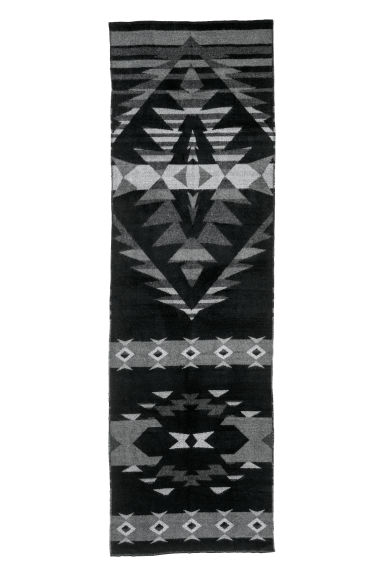 Patterned scarf - Black/Patterned - Men | H&M CN