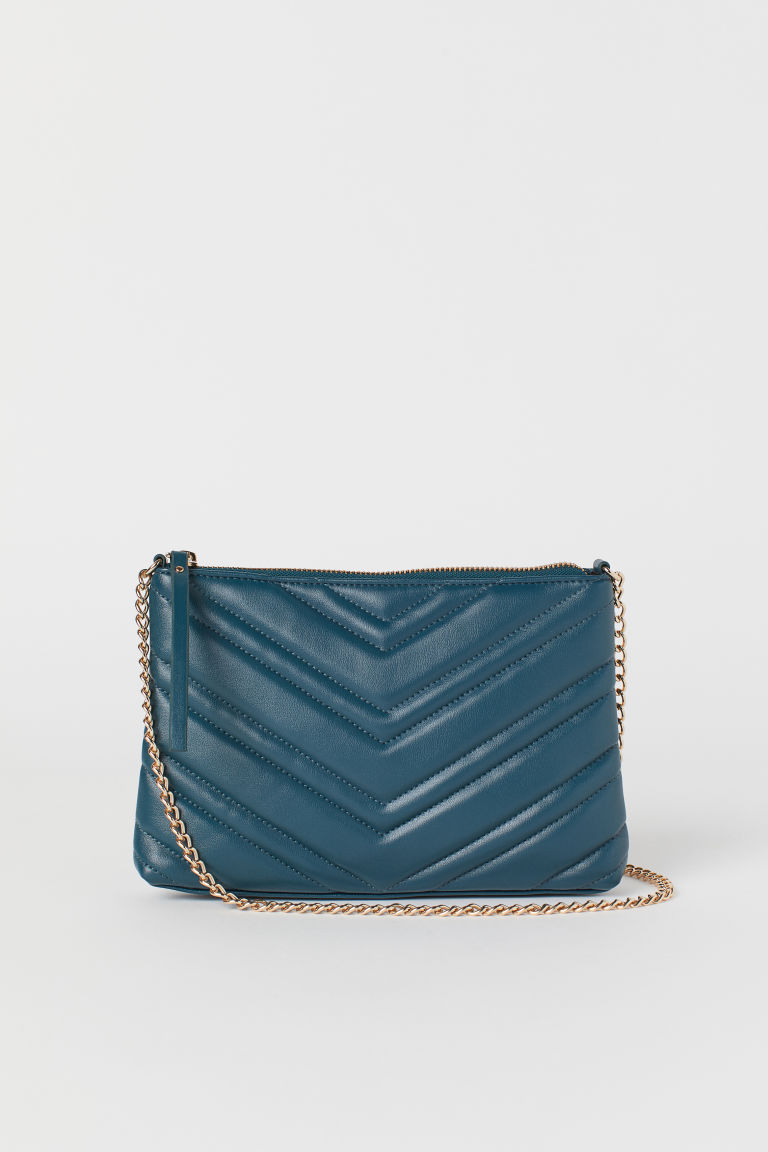 Quilted shoulder bag - Dark turquoise - Ladies | H&M