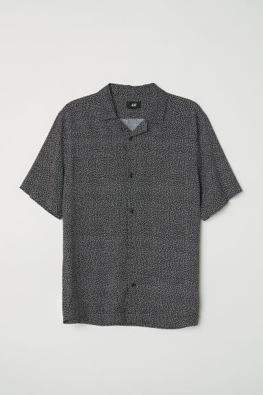 Relaxed Fit Resort Shirt - Black/white dotted -  | H&M US