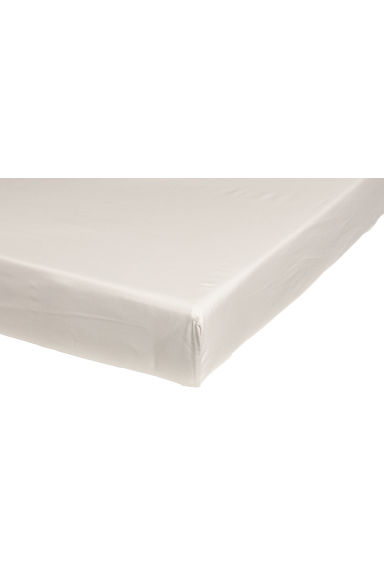 Fitted cotton sheet - Light beige - Home All | H&M IE