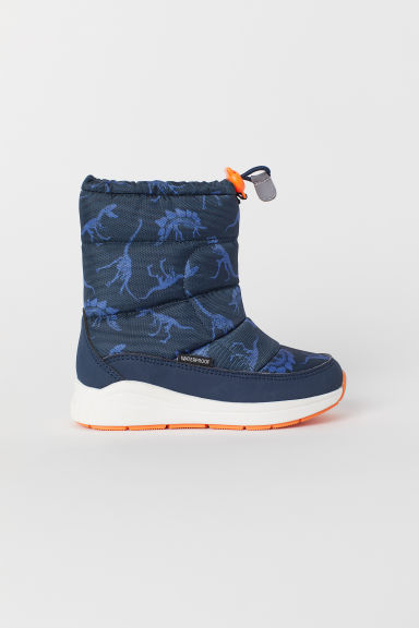 Waterproof boots - Dark blue/Dinosaurs - Kids | H&M