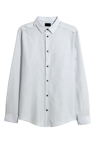 Shirt Slim fit - Light grey -  | H&M