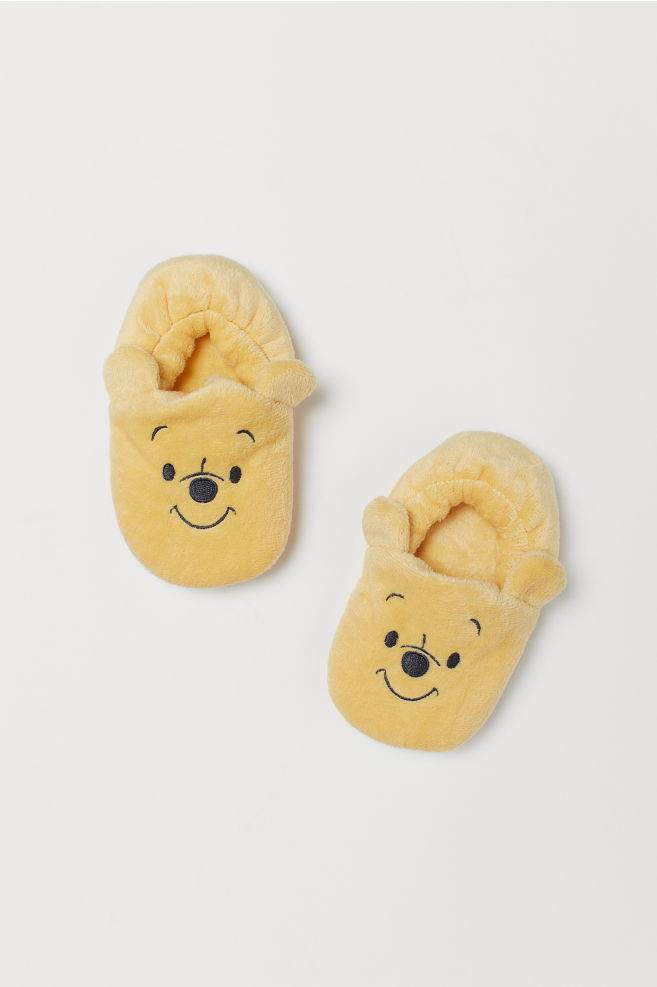 4d477502e64 Velour Slippers - Yellow Winnie the Pooh - Kids