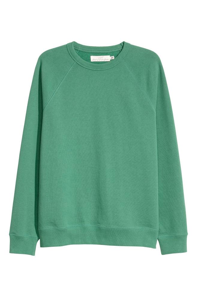 439624fc0da49a Sweatshirt with Raglan Sleeves - Green - Men