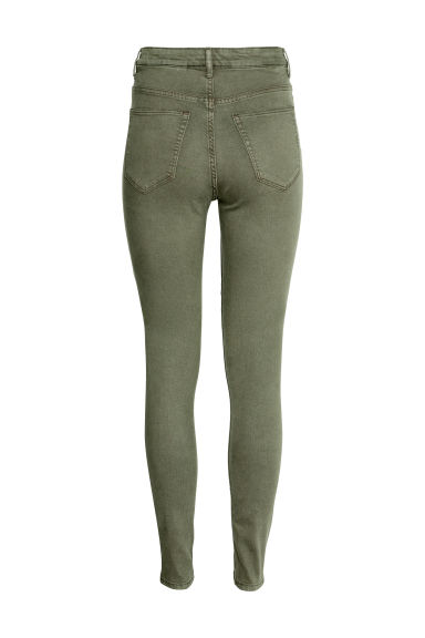 Super Skinny High Jeans - Verde kaki - DONNA | H&M IT