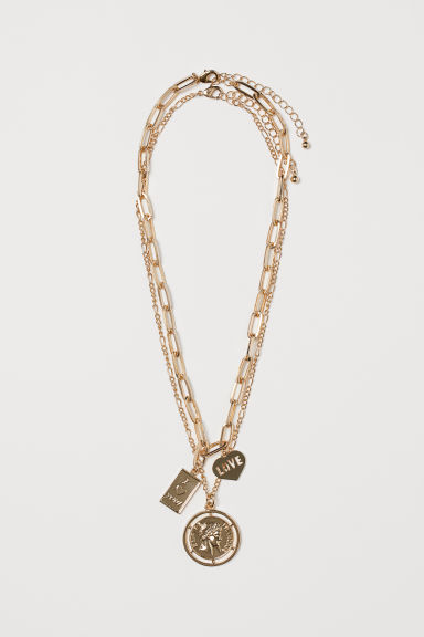 2-pack necklaces - Gold-coloured - Ladies | H&M GB