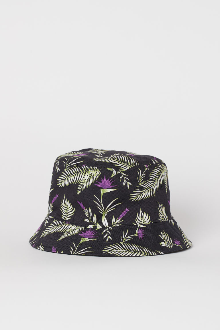 Reversible Sun Hat - Black/floral -  | H&M CA