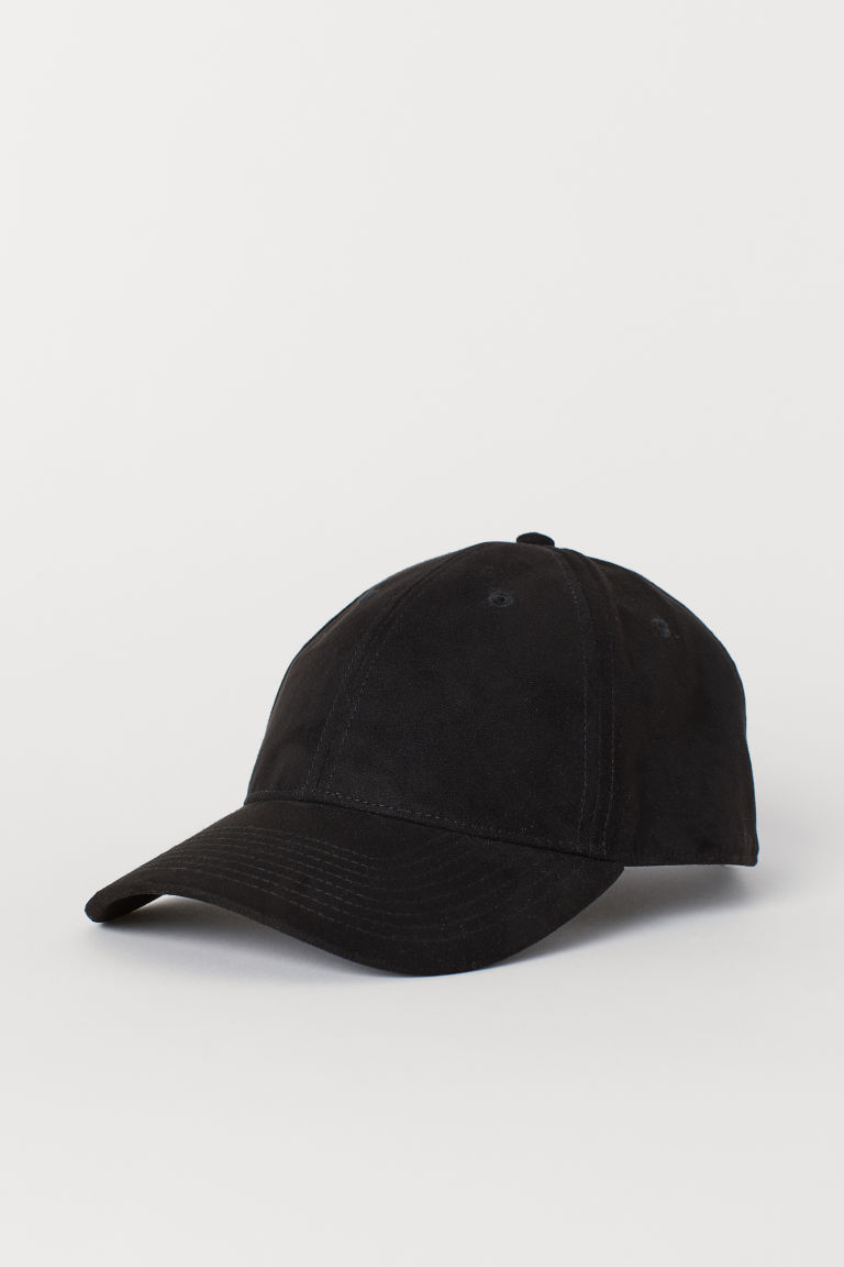Imitation suede cap - Black - Men | H&M