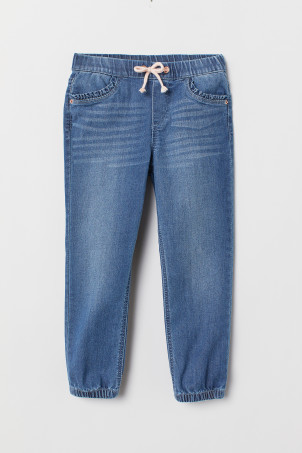 Pull-on Loose Fit Jeans