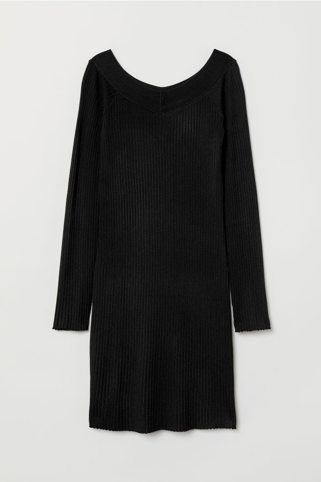 15df7eb43c0 Ribbed dress - Black -