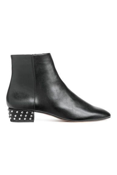 Ankle boots with studs - Black -  | H&M
