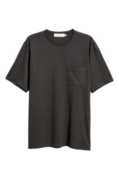 T-shirt con taschino - Nero -  | H&M IT
