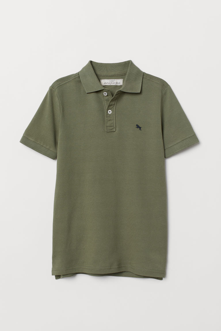 Polo shirt - Khaki green - Kids | H&M IE
