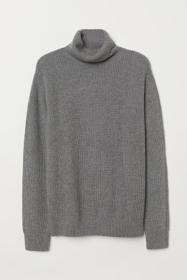 Cashmere-blend jumper - Grey marl - Men | H&M