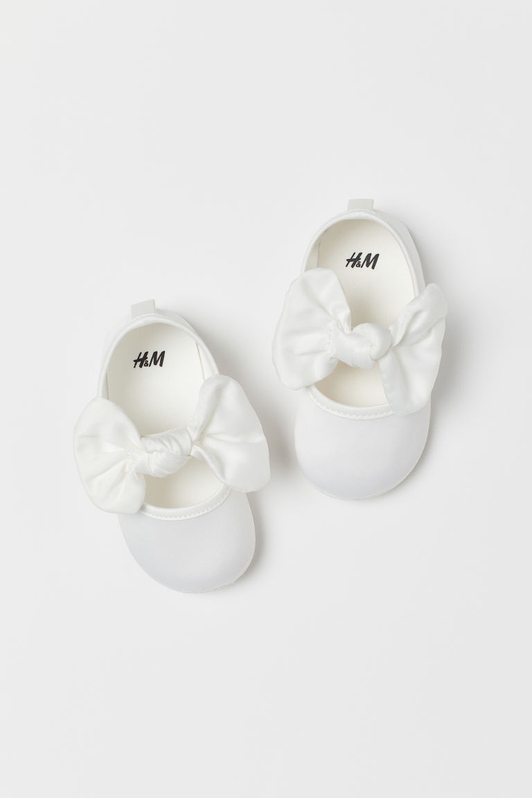 Ballet Flats with Bow - White -  | H&M US