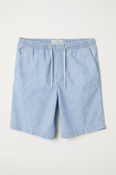 Knee-length cotton shorts - Light blue - Men | H&M