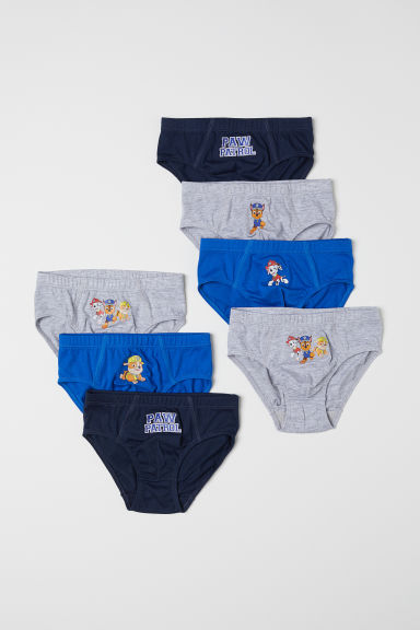 7-pack boys' briefs - Bright blue/Paw Patrol - Kids | H&M CN