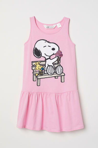 Sequined dress - Light pink/Snoopy - Kids | H&M
