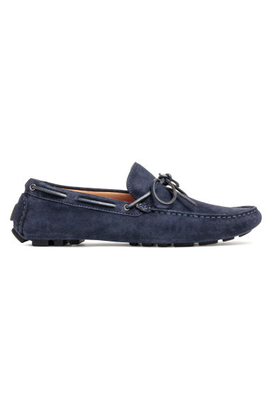 Suède mocassins - Donkerblauw - HEREN | H&M BE