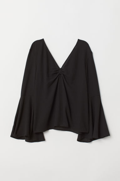 Camicetta increspata - Nero -  | H&M IT