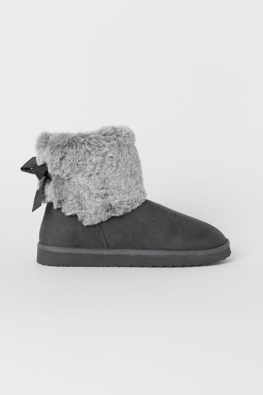 Warm-lined boots - Grey - Kids | H&M
