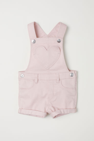 Denim salopetteshort - Lichtroze - KINDEREN | H&M BE