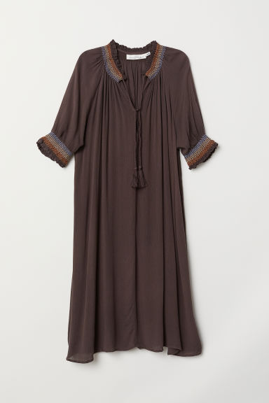 V-neck dress - Dark brown - Ladies | H&M