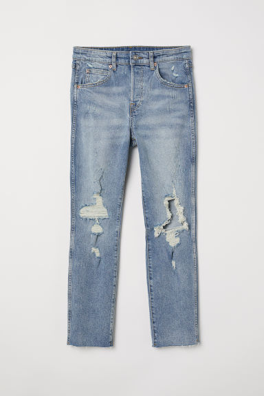 Slim High Cropped Jeans - Denim blue - Ladies | H&M
