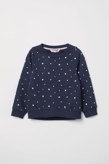 Printed sweatshirt - Dark blue/Spotted - Kids | H&M