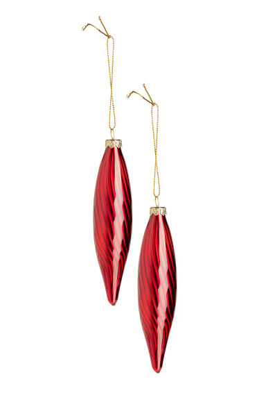 2-pack Christmas decorations - Dark red -  | H&M CN