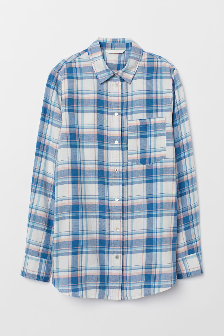 Checked shirt - Blue/Checked -  | H&M CN