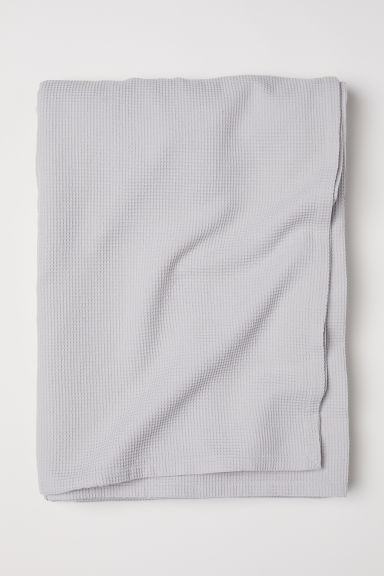 Waffled double bedspread - Light grey - Home All | H&M IE