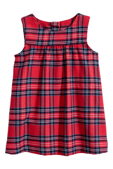 Dress - Red/Checked - Kids | H&M CN