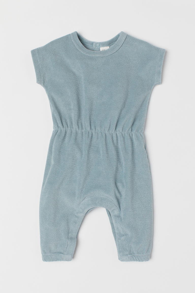Terry romper suit - Light turquoise - Kids | H&M GB
