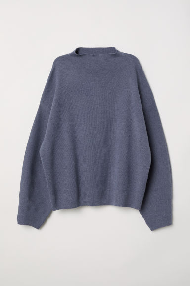 Fine-knit jumper - Blue marl -  | H&M CN