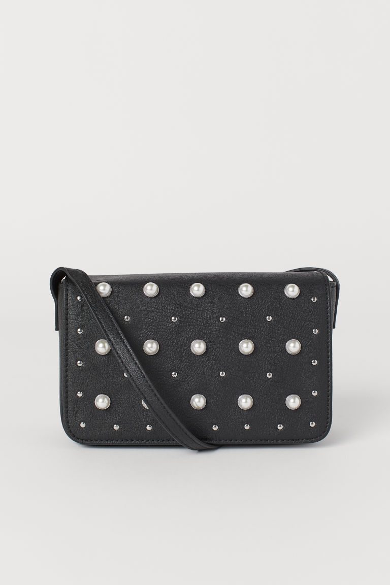Shoulder bag with studs - Black - Ladies | H&M CN