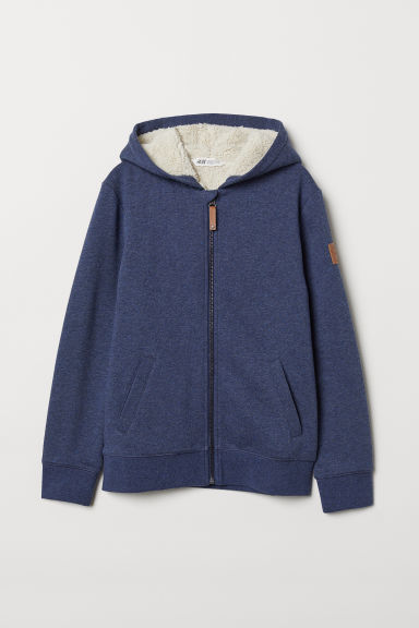 Lined hooded jacket - Dark blue - Kids | H&M