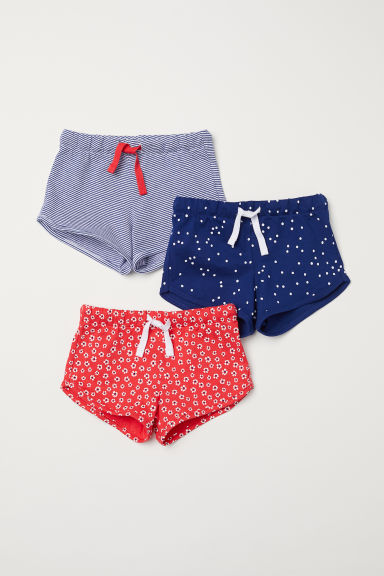 Shorts in jersey, 3 pz - Rosso/fantasia -  | H&M IT