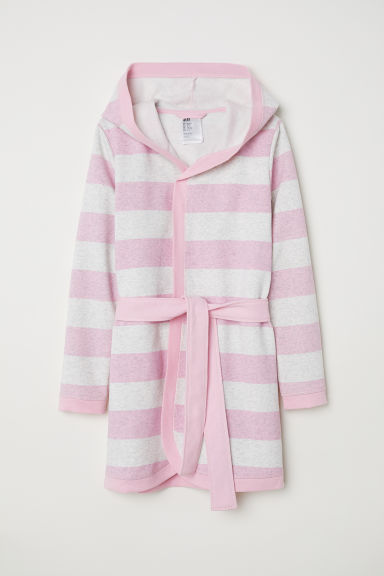 Dressing gown - Grey marl/Striped - Kids | H&M